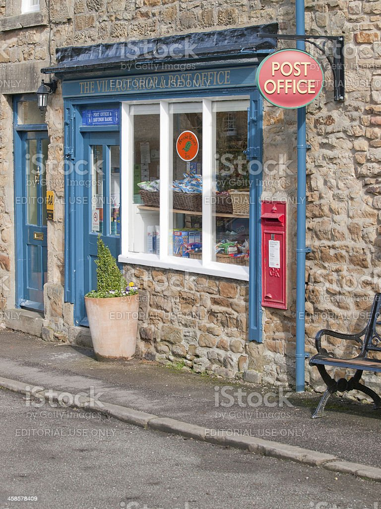 Village shop and post office stock photo