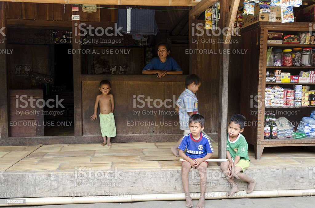 Village shop in Indonesia stock photo