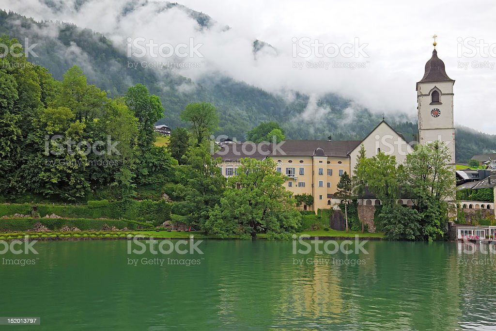 Village St. Wolfgang on the lake Wolfgangsee Austria royalty-free stock photo