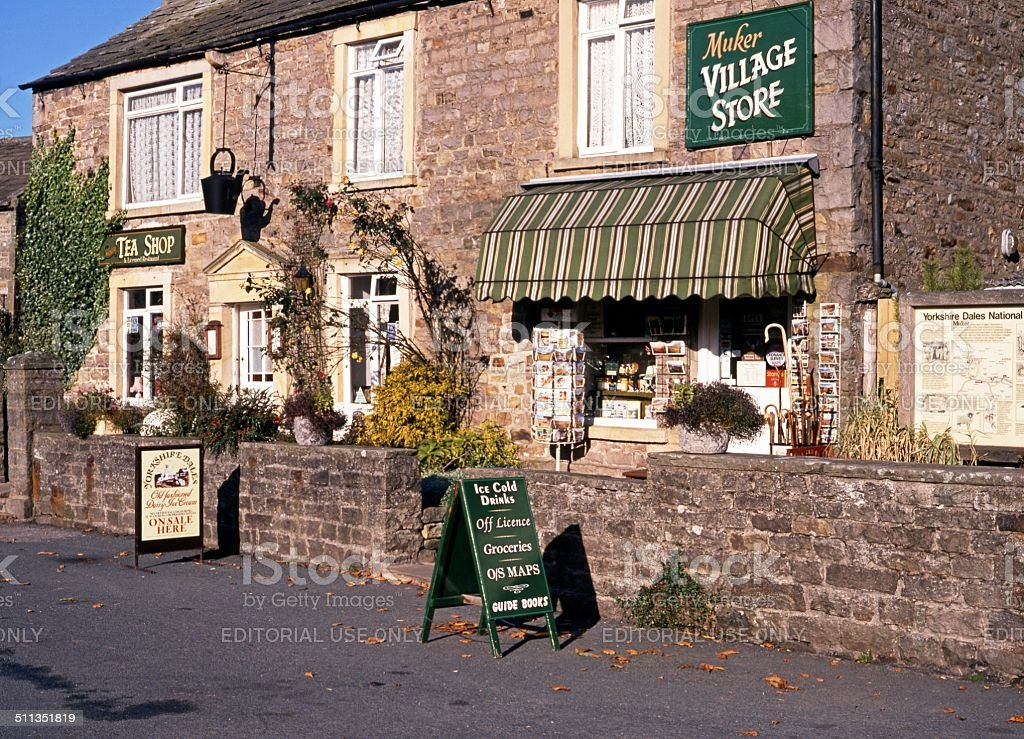 Village store, Muker, Yorkshire Dales. stock photo