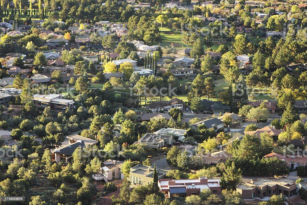Village Suburb Neighborhood Community royalty-free stock photo