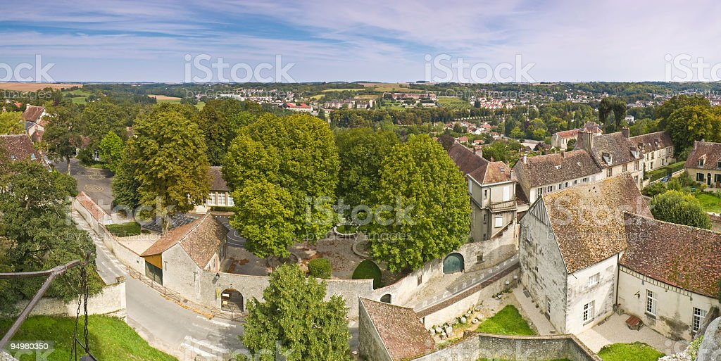 Village villas and foliage royalty-free stock photo
