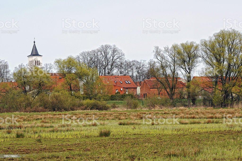 Village Warnau on Havel River (Saxnia Anhalt) stock photo