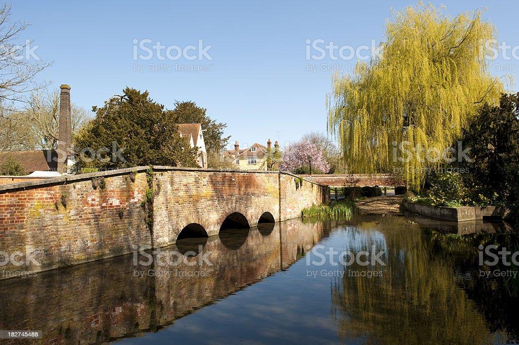 Village Watermill Bridge stock photo