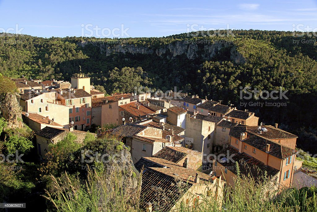 village with old beautiful houses in Provence, France. royalty-free stock photo