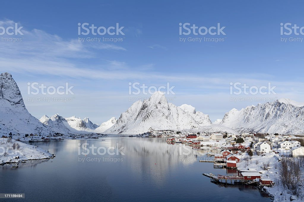Village with Snow royalty-free stock photo
