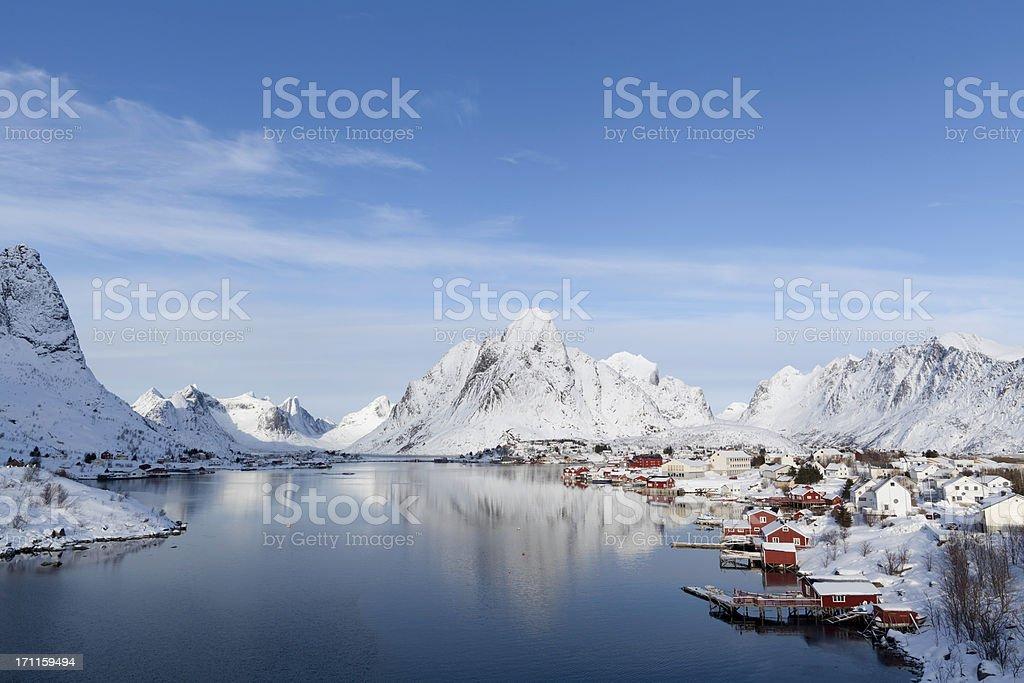Village with Snow stock photo