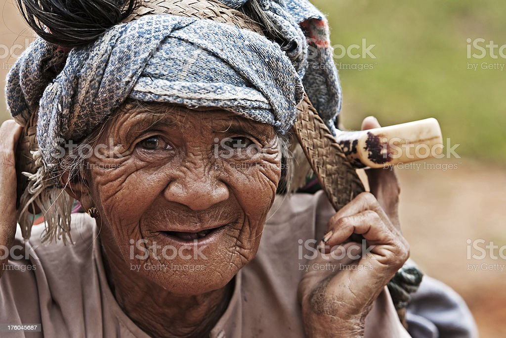 Village woman stock photo