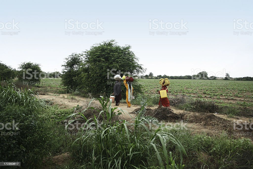 Villagers stock photo