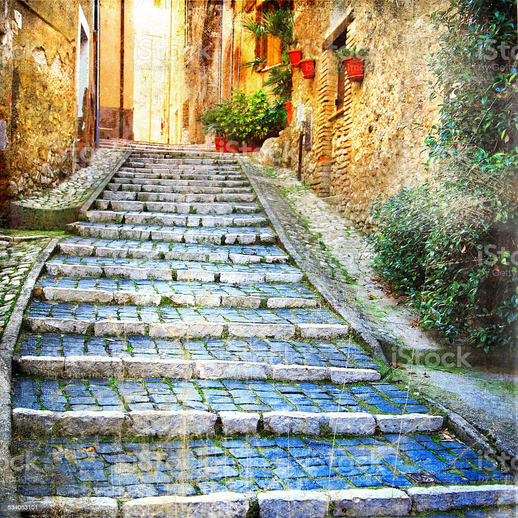 Villages of mediterranean stock photo