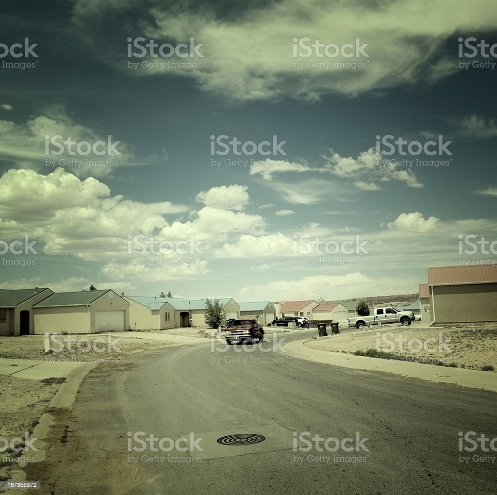 Village,USA.Vintage Look. stock photo