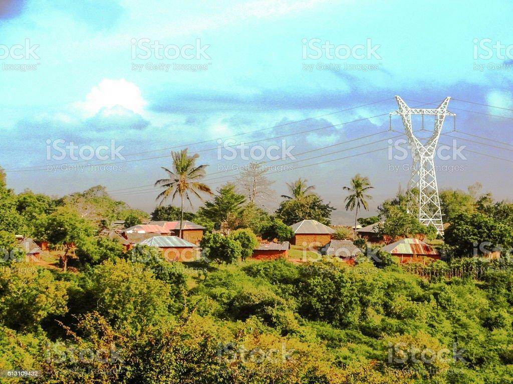 Villaggio Kenyota stock photo