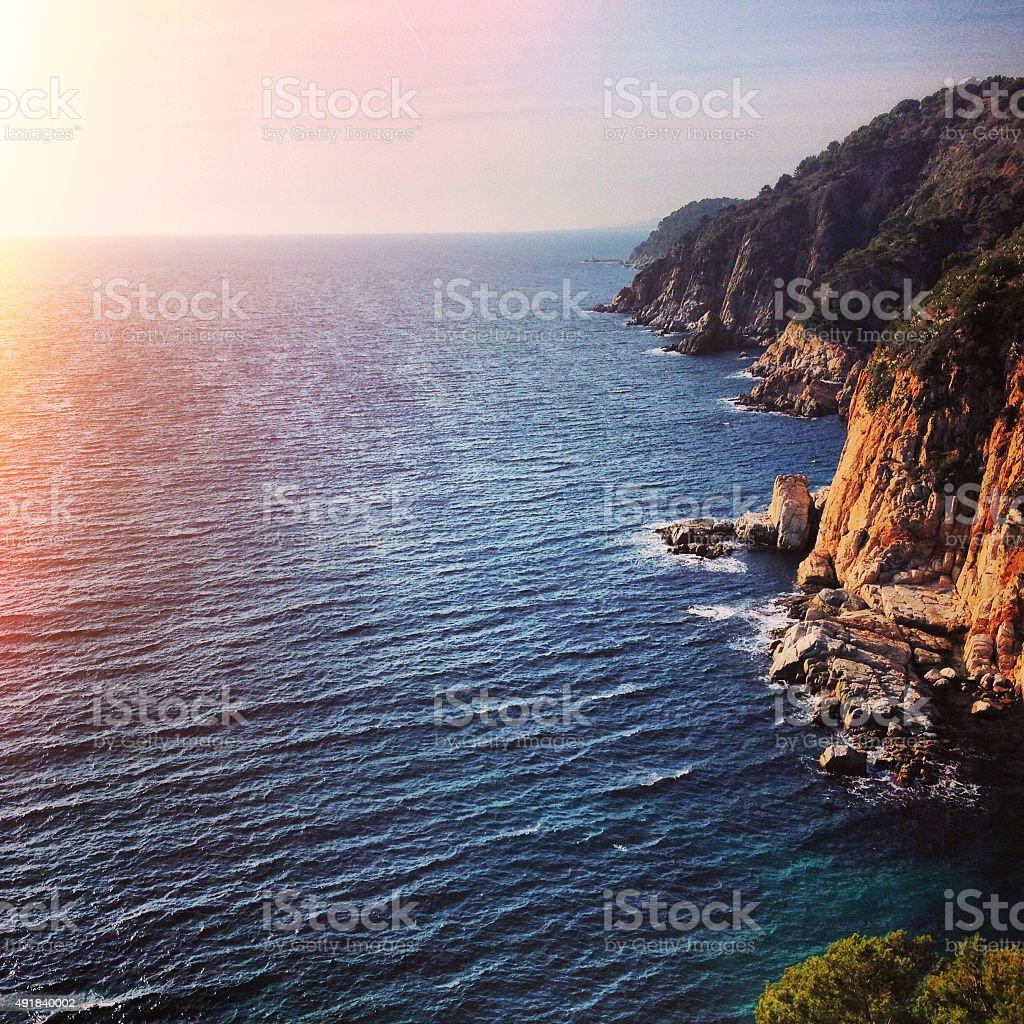 Villahormes Cliffs stock photo