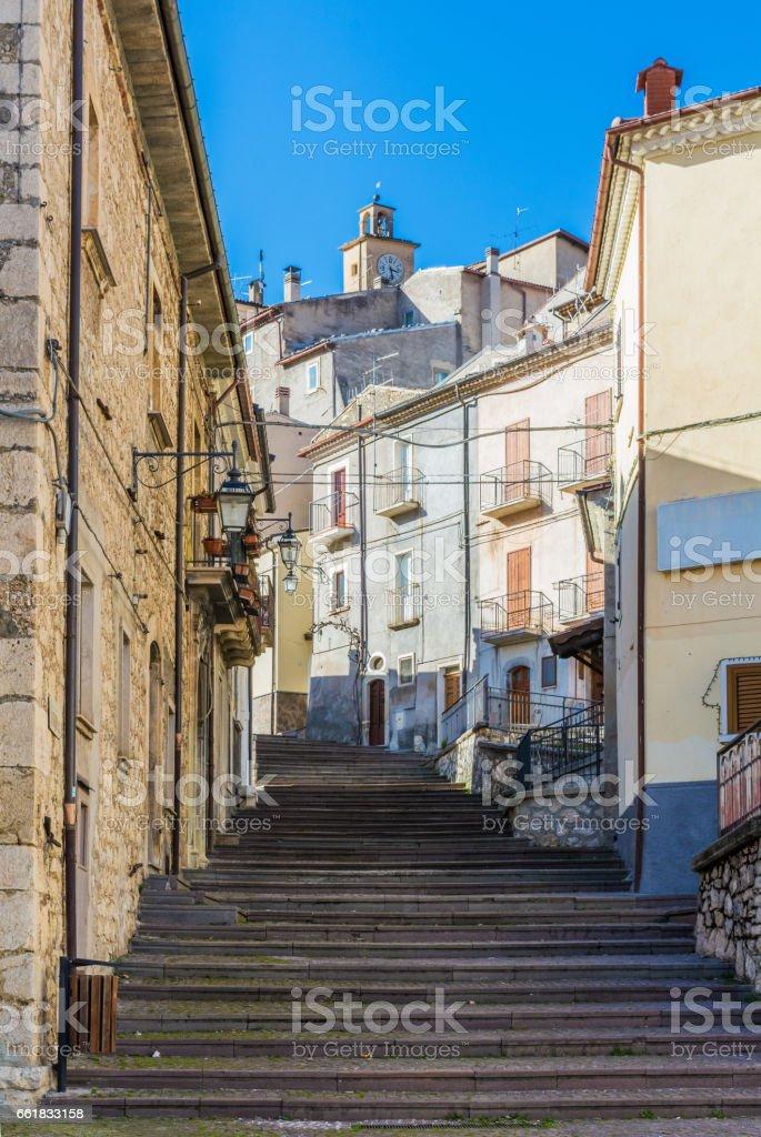 Villalago (Abruzzo, Italy) stock photo