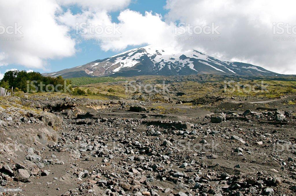 Villarica Vulcan in Chile stock photo