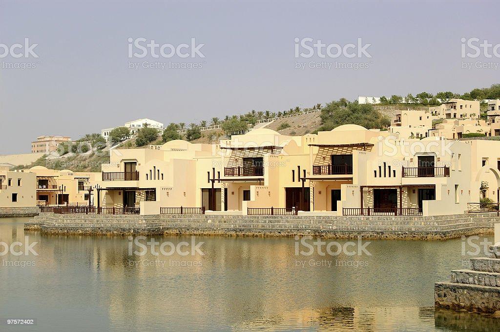 Villas at luxury hotel, Dubai, UAE royalty-free stock photo