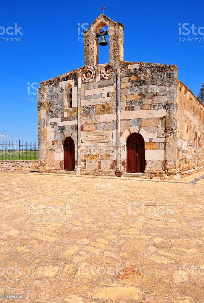 Villaspeciosa, Sardinia, Italy: Romanesque Architecture of the San Platano church stock photo