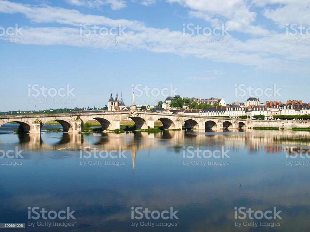 Ville de Blois stock photo