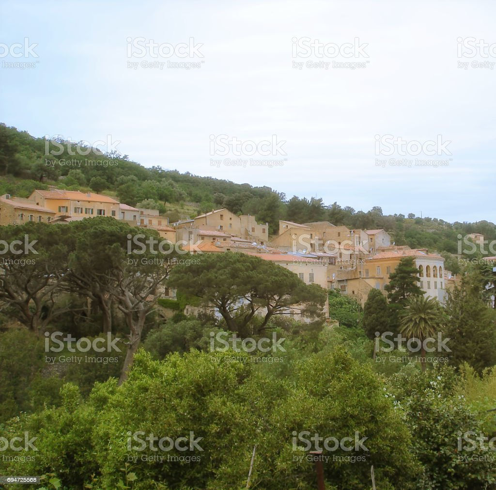 Ville di Paraso on Corsica island stock photo