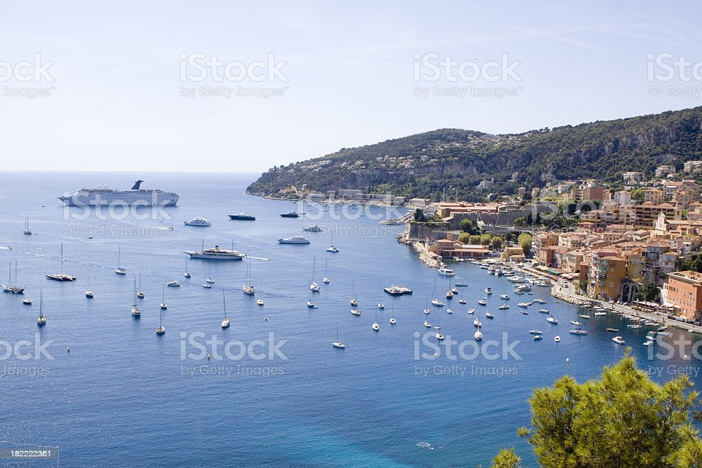 Villefranche Bay royalty-free stock photo