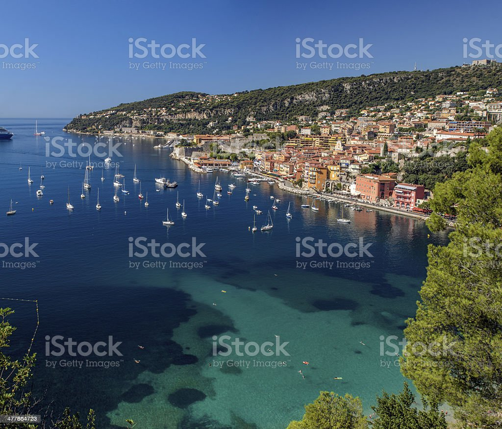 Villefranche on the Cote d'Azur royalty-free stock photo