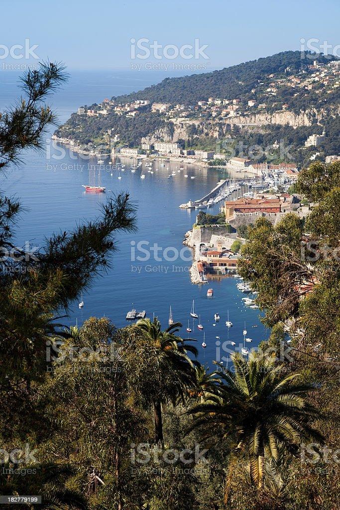 Villefranche sur Mer in Cote d'Azur (vertical) royalty-free stock photo