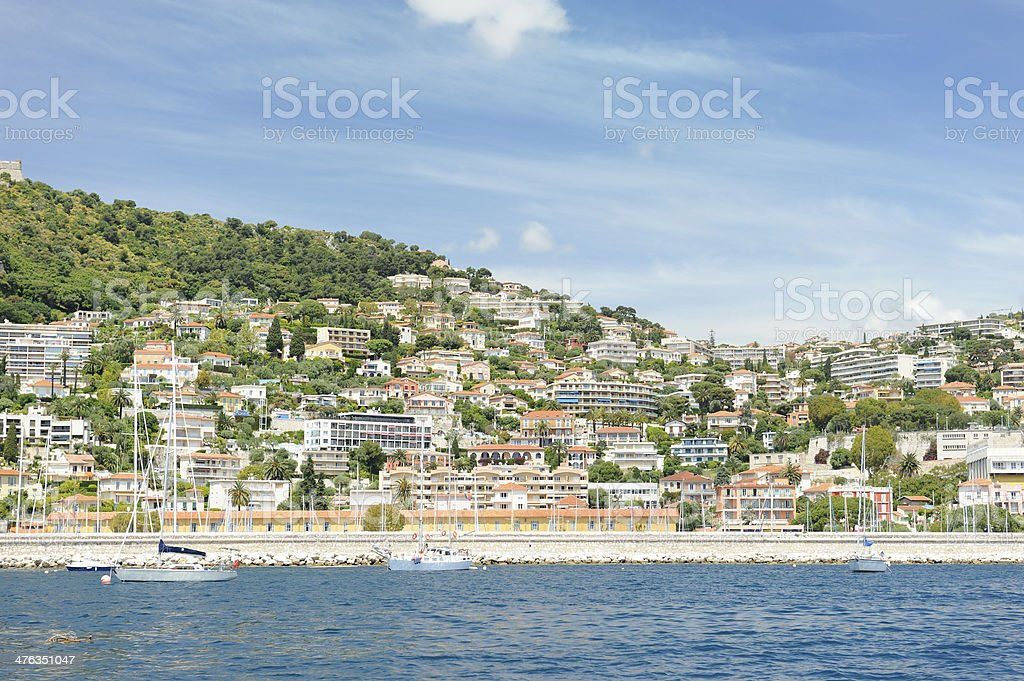 Villefranche-sur-Mer on French Riviera royalty-free stock photo