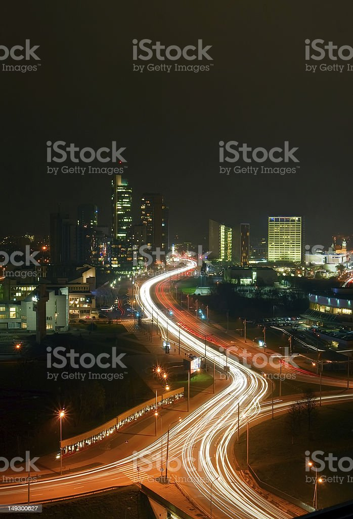 Vilnius At Night royalty-free stock photo