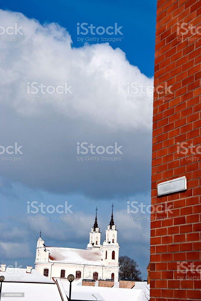 Vilnius Calvary Church of the Holy Cross stock photo