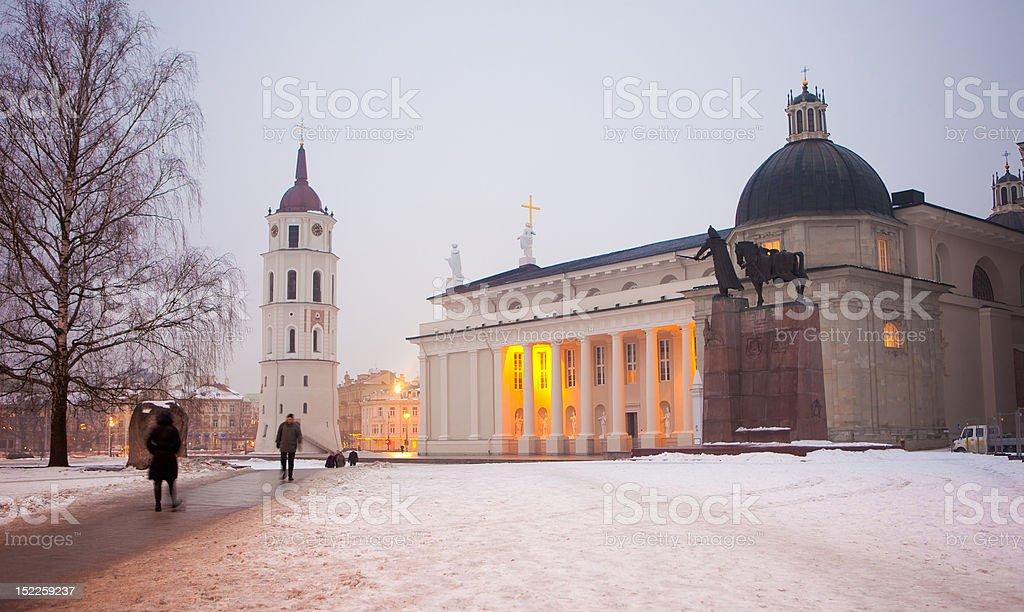 Vilnius Cathedral at dawn royalty-free stock photo