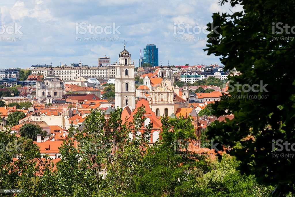 Vilnius cityscape, Lithuania stock photo