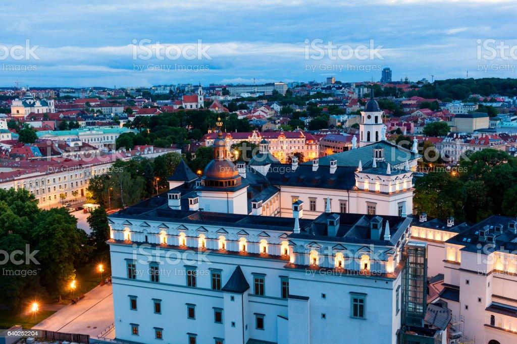 Vilnius cityscape, Lithuania stock photo
