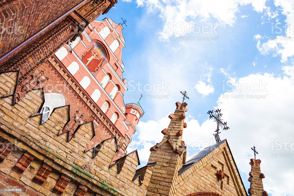 Vilnius - Lithuania, St. Anne's Gothic Church stock photo