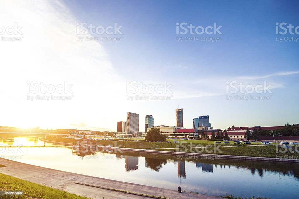 Vilnius new district at dawn royalty-free stock photo
