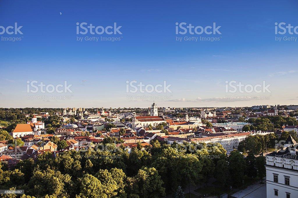 Vilnius old town panorama royalty-free stock photo