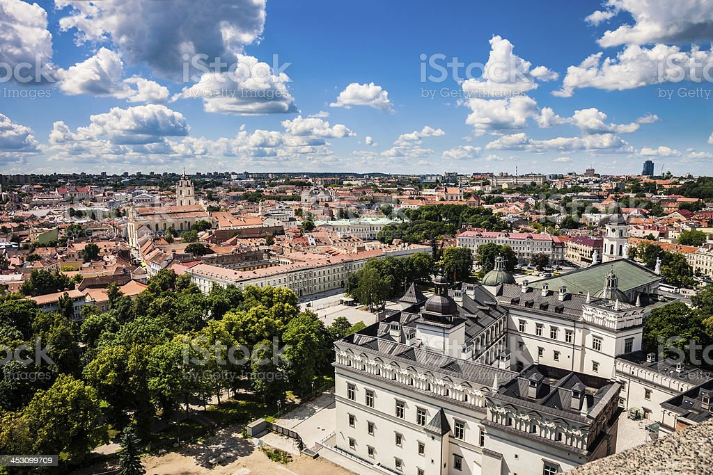 Vilnius old town panorama royalty-free stock photo
