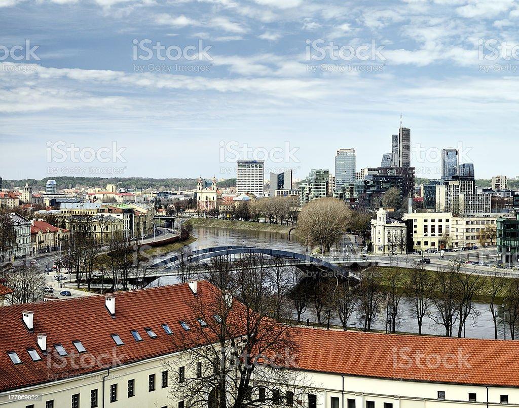 Vilnius panorama royalty-free stock photo
