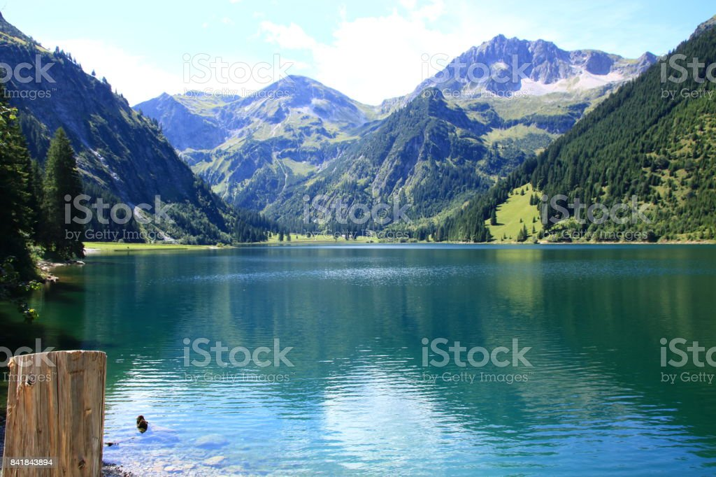 Vilsalpsee in Tirol stock photo