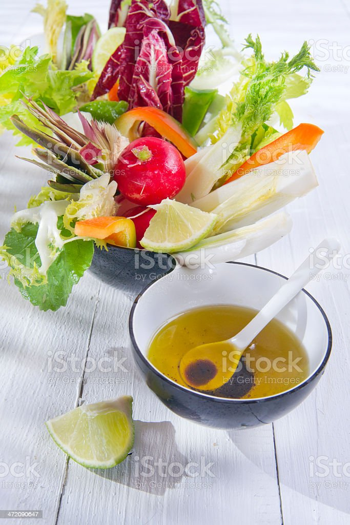 Vinaigrette with mixed vegetables royalty-free stock photo