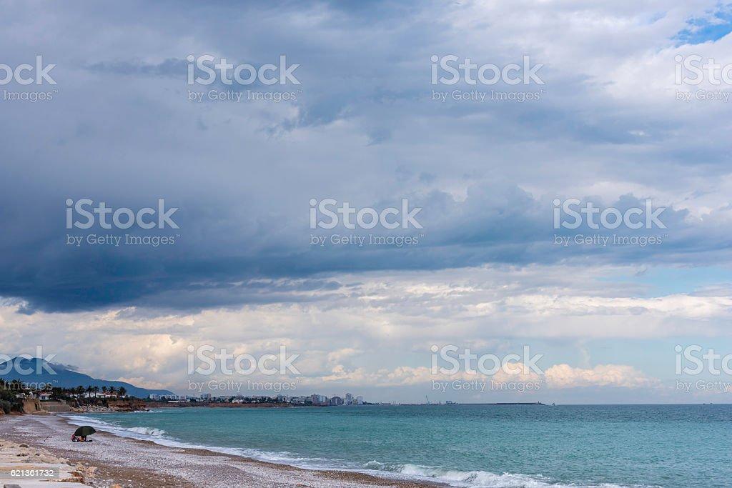 Vinaros beach (Castellon, Spain). stock photo