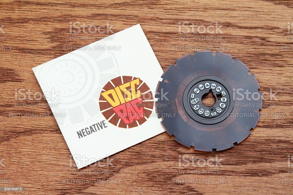 Vinatge Kodak negative film disc wheel stock photo