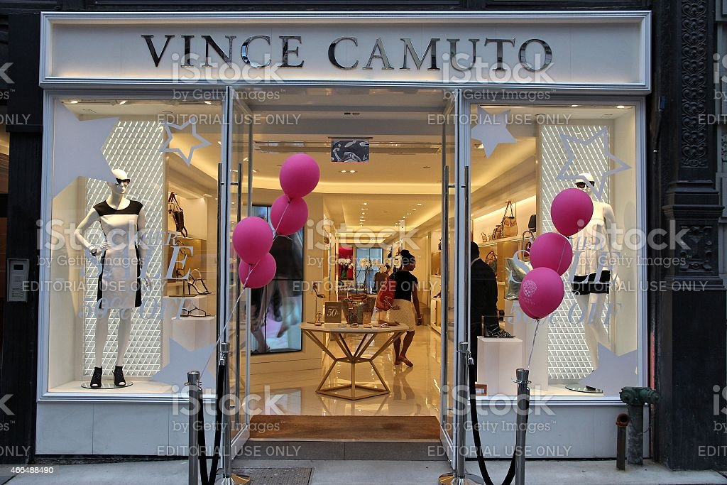 Vince Camuto fashion stock photo