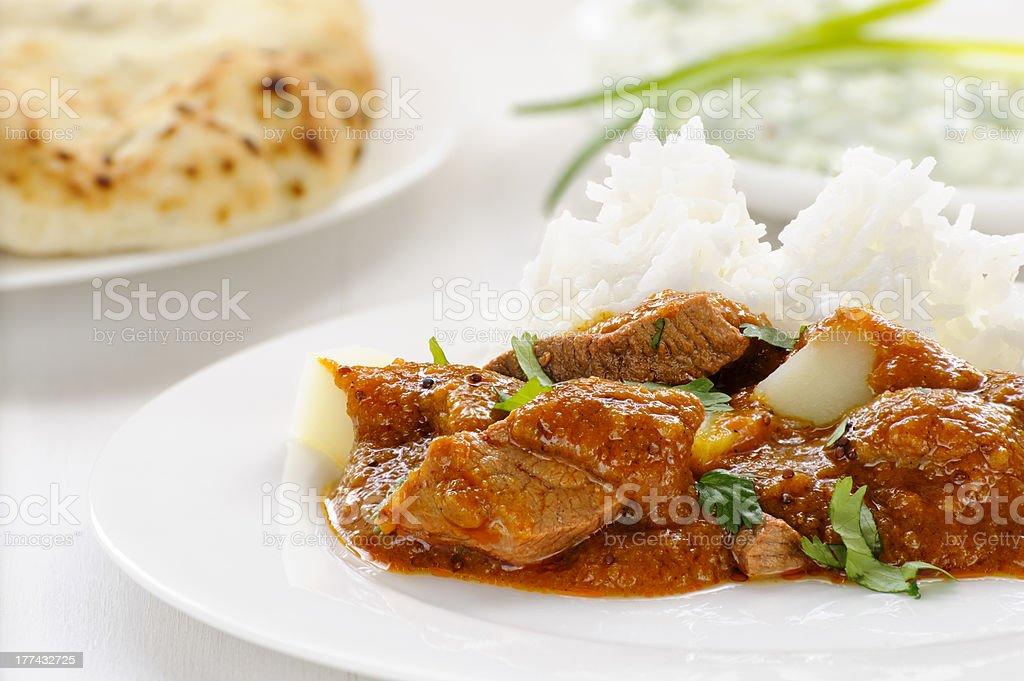 Vindaloo lamb curry stock photo