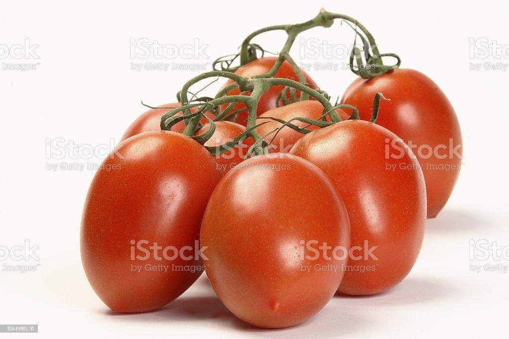 Vine Plum Tomatoes stock photo