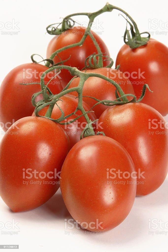 Vine Plum Tomatoes royalty-free stock photo