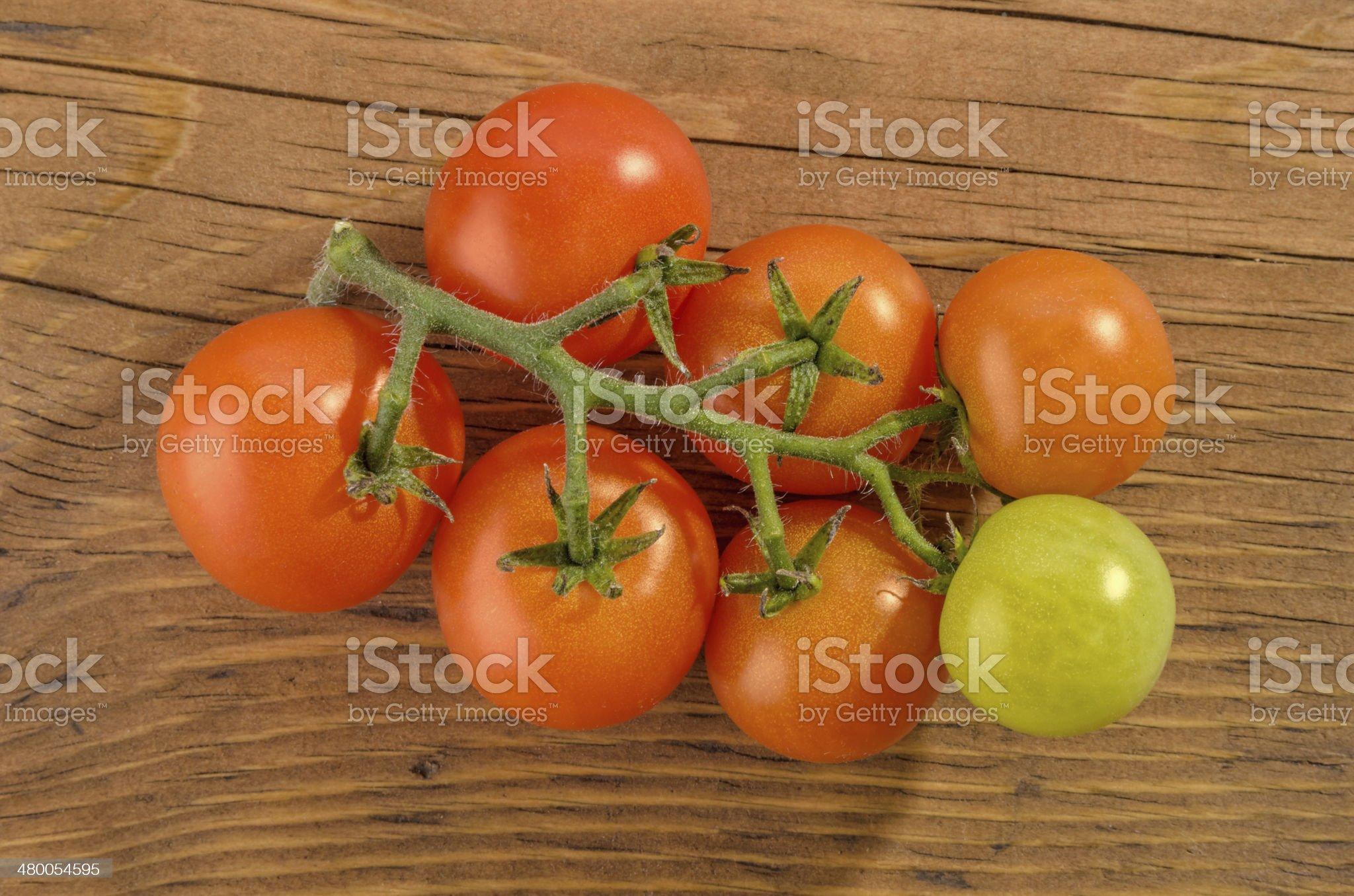 Vine Tomatoes royalty-free stock photo