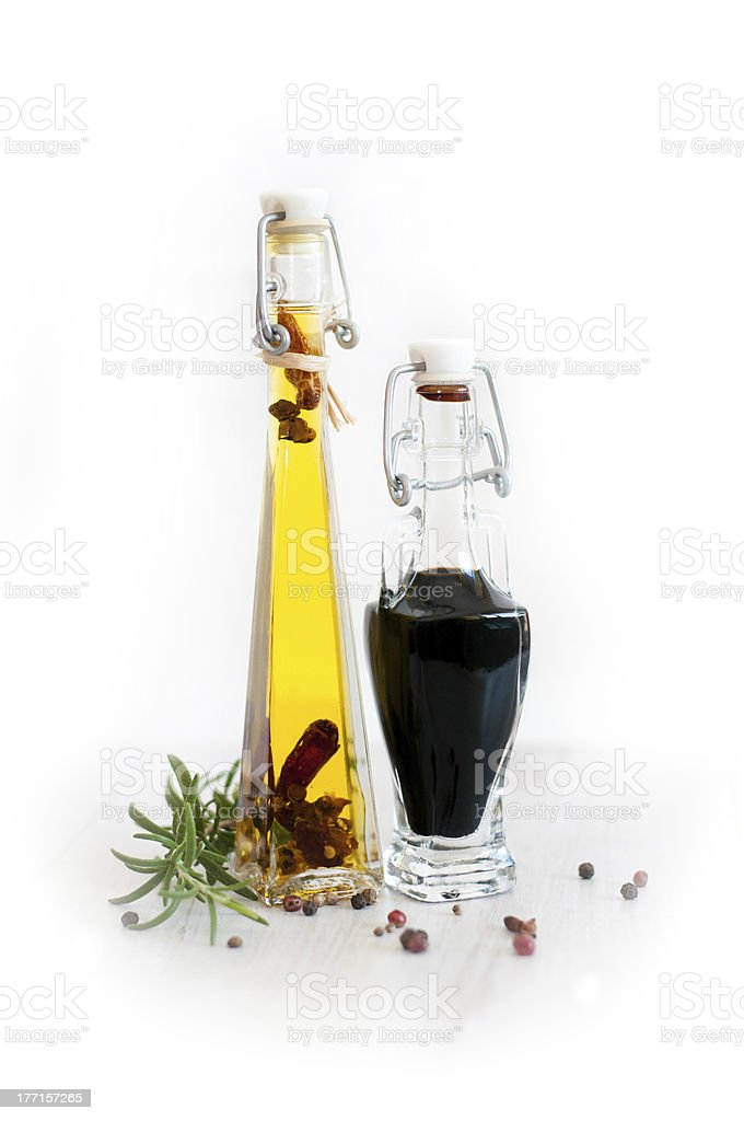 vinegar and oil royalty-free stock photo