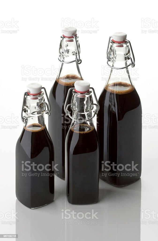 vinegar four bottles royalty-free stock photo