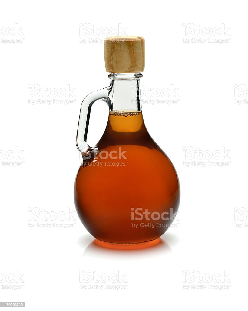 vinegar glass on white background stock photo