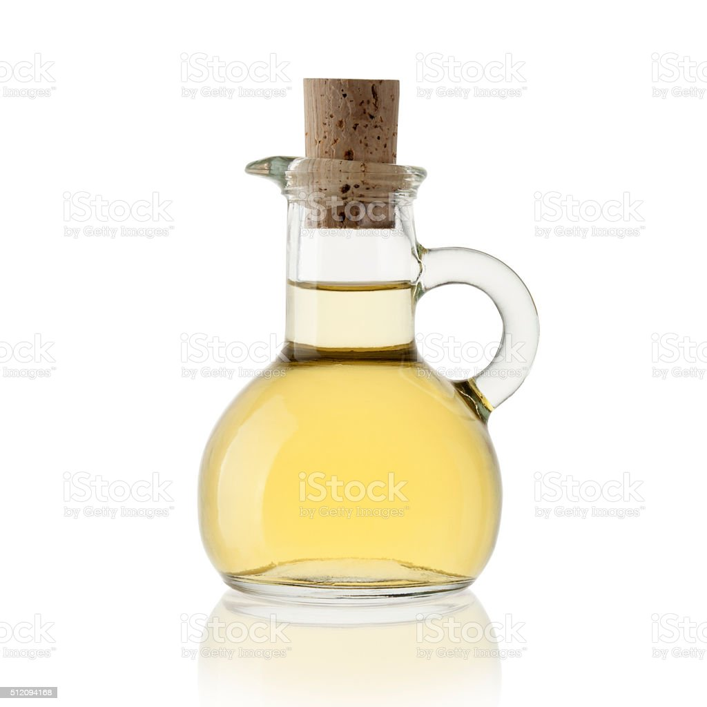 Vinegar of white grapes stock photo